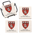 Harvard University Medical School Marble Coaster Set