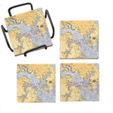 Baltimore, MD Marble Coaster Set
