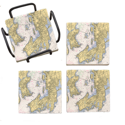 Newport, RI  Marble Coaster Set