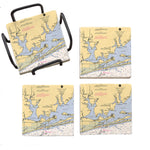 Orange Beach, AL  Marble Coaster Set