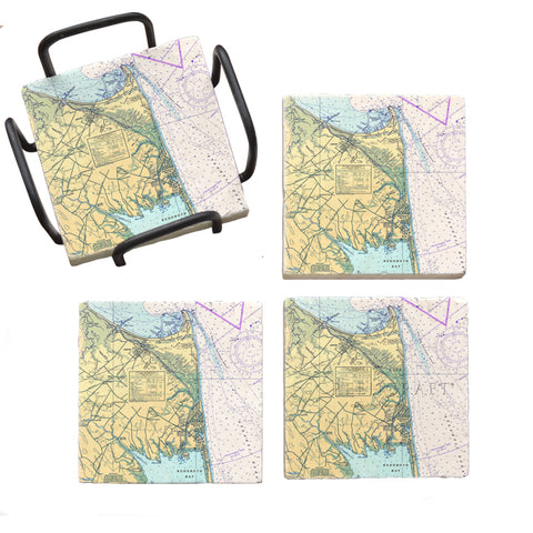 Cape Henlopen, DE  Marble Coaster Set