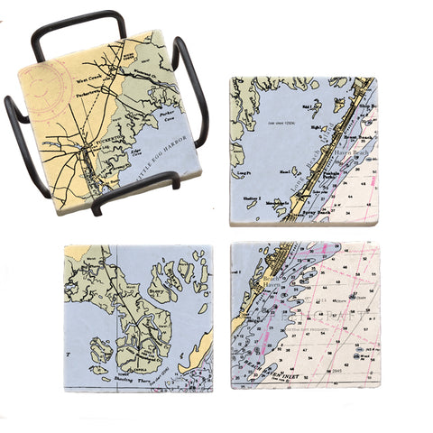 Beach Haven, NJ  Mural Coaster Set