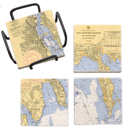 New Bedford, MA Mural Coaster Set