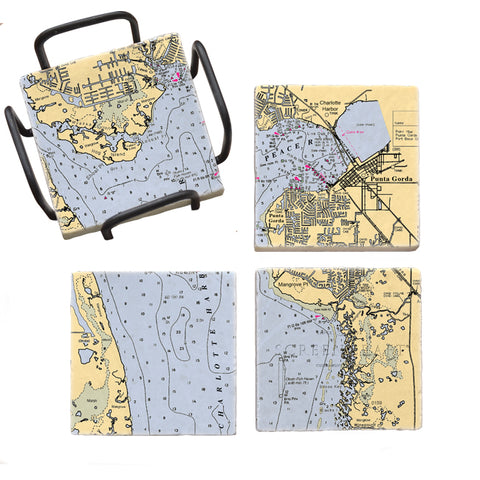 Punta Gorda, FL Mural Coaster Set
