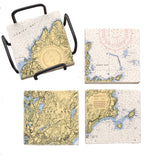 Rockport, MA Mural Coaster Set
