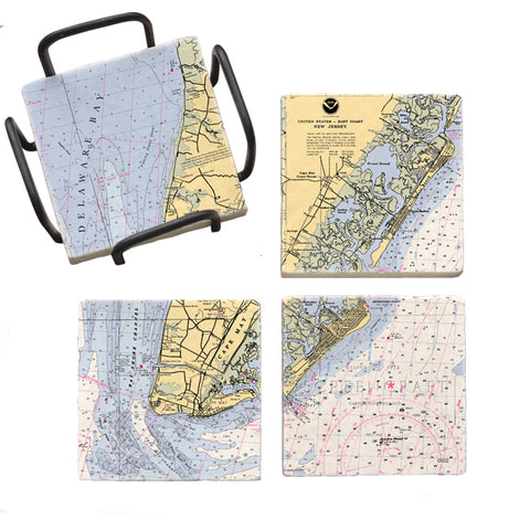 Cape May, NJ Mural Coaster Set