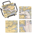 New Castle Island, NH  Mural Coaster Set