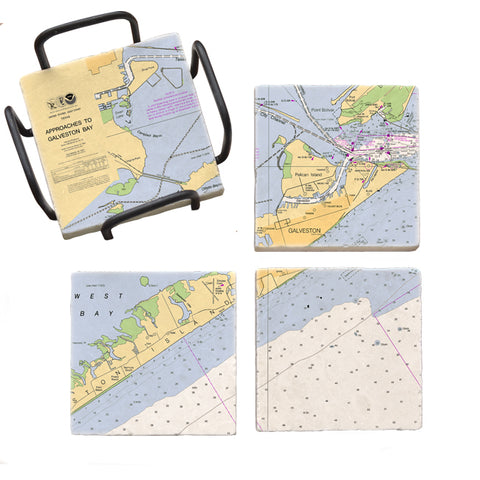 Galveston, TX Mural Coaster Set