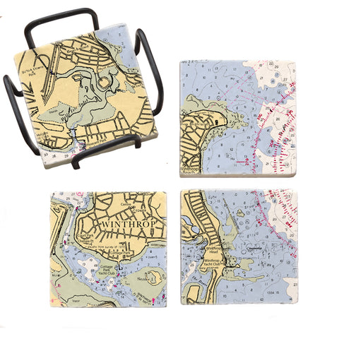 Winthrop, MA Mural Coaster Set