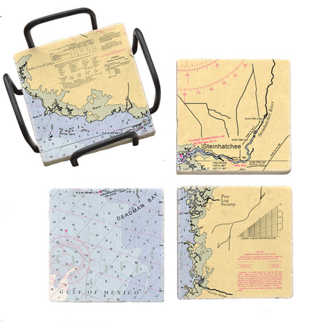 Steinhatchee, FL Mural Coaster Set