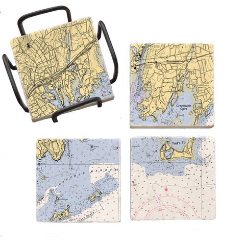 Greenwich, CT Mural Coaster Set