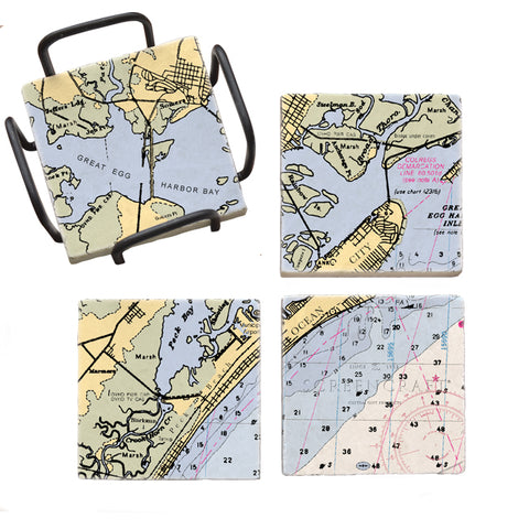 Ocean City, NJ Mural Coaster Set