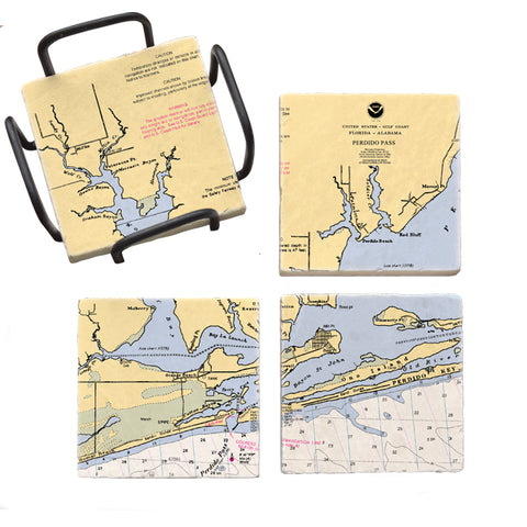 Orange Beach, AL  Mural Coaster Set
