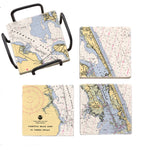 Roanoke Island, NC Mural Coaster Set
