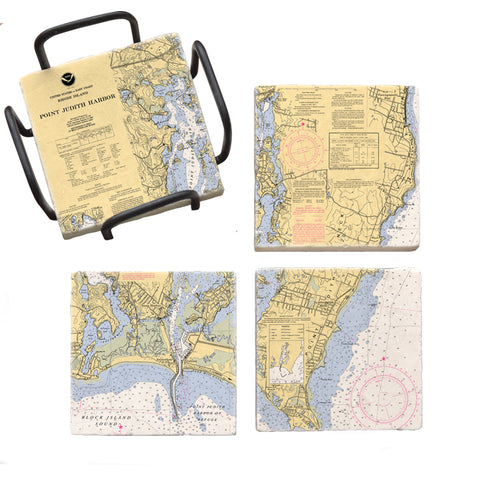Point Judith, RI Mural Coaster Set