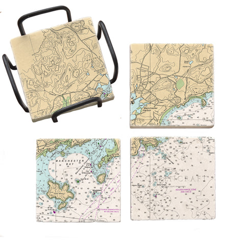 Manchester by the Sea, MA Mural Coaster Set