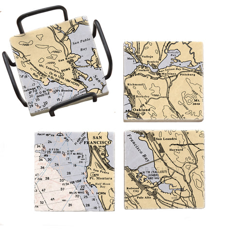 San Francisco, CA Mural Coaster Set