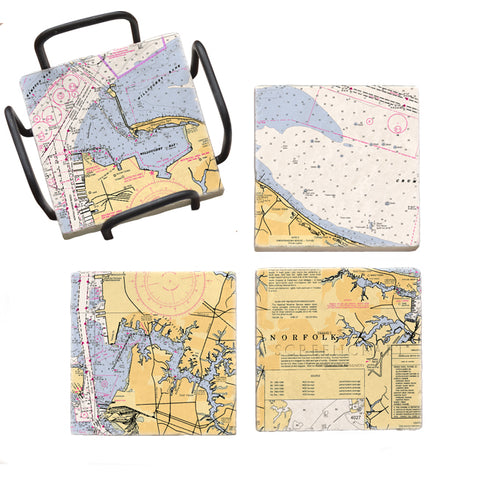 Norfolk, VA  Mural Coaster Set