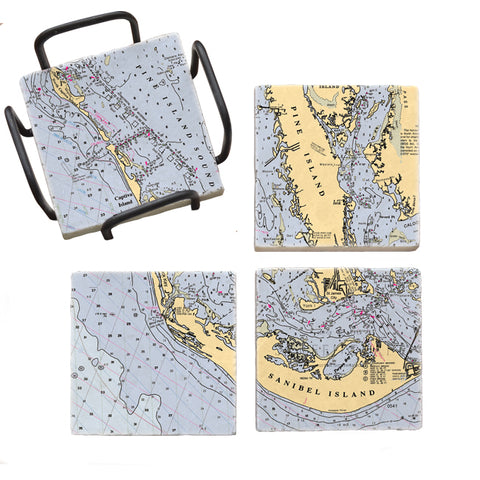Sanibel Island, FL Mural Coaster Set