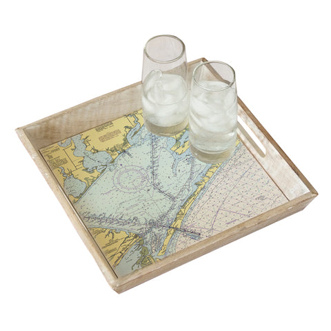 Port O'Connor, TX Tray & Coaster Gift Set