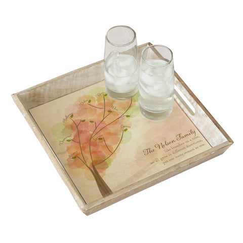 Personalized Family Tree Serving Tray