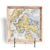 Personalized Nautical Chart Serving Tray
