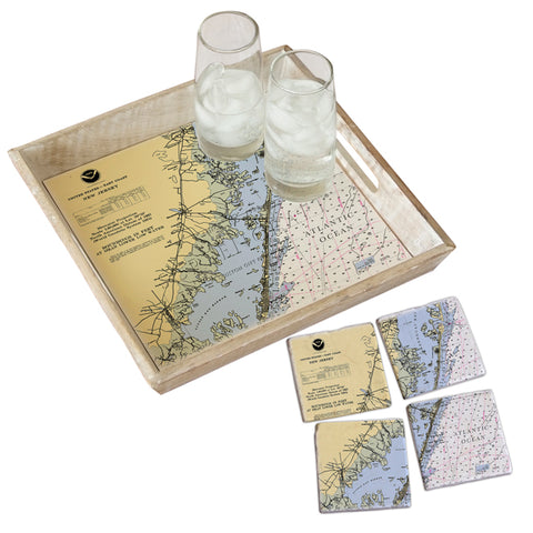 Long Beach Island, NJ Tray & Coaster Gift Set