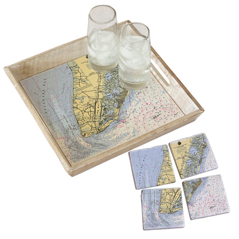 Cape May, NJ Tray & Coaster Gift Set