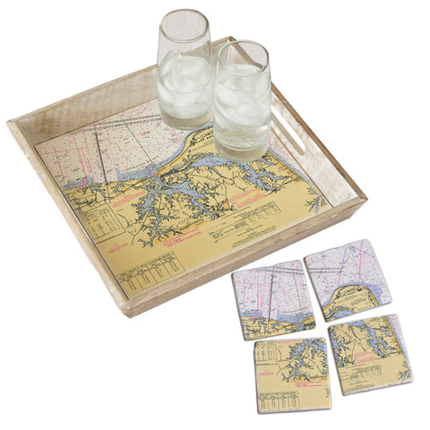 Cape Henry, VA Tray & Coaster Gift Set