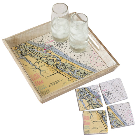 New Smyrna Beach, FL  Tray & Coaster Gift Set