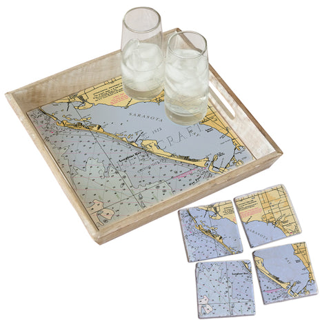 Longboat Key, FL  Tray & Coaster Gift Set