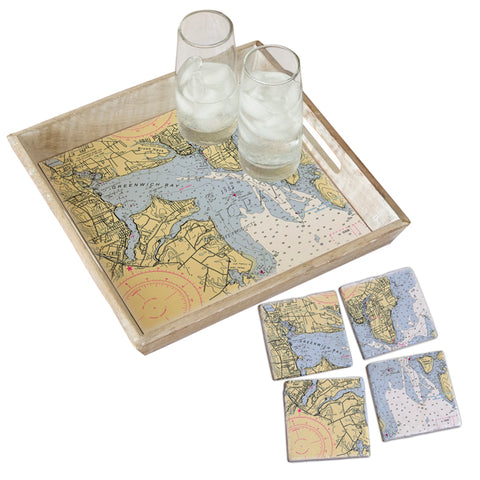 East Greenwich, RI Tray & Coaster Gift Set