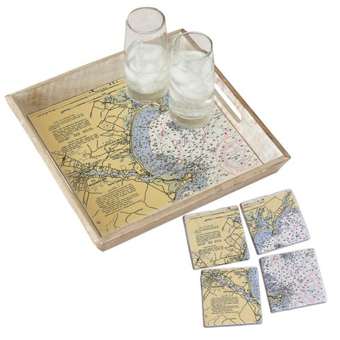 New Orleans, LA. Tray & Coaster Gift Set