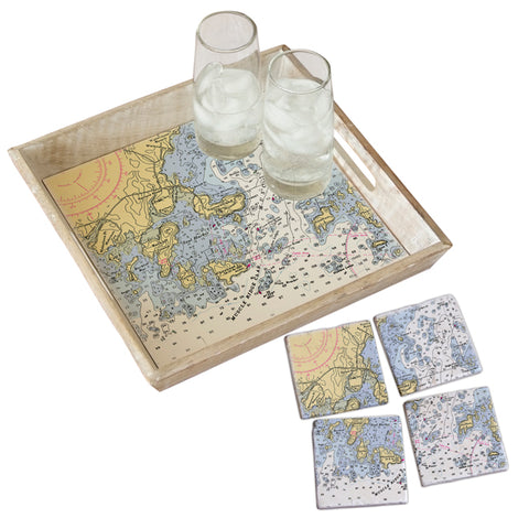 Spruce Head, Maine Tray & Coaster Gift Set