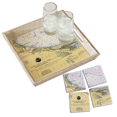 Sandwich, MA  Tray & Coaster Gift Set