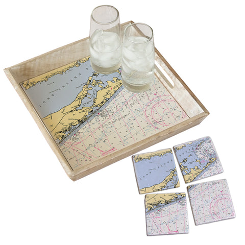 The Hamptons, New York Tray & Coaster Gift Set