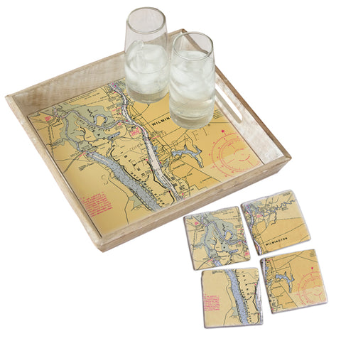 Eagle Island, NC  Tray & Coaster Gift Set