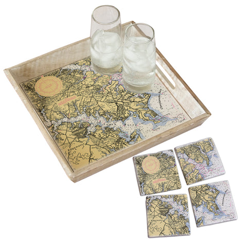 Annapolis, MD Tray & Coaster Gift Set
