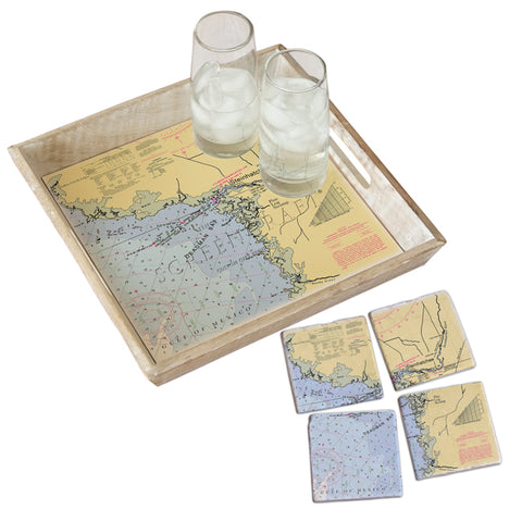 Steinhatchee, FL Tray & Coaster Gift Set