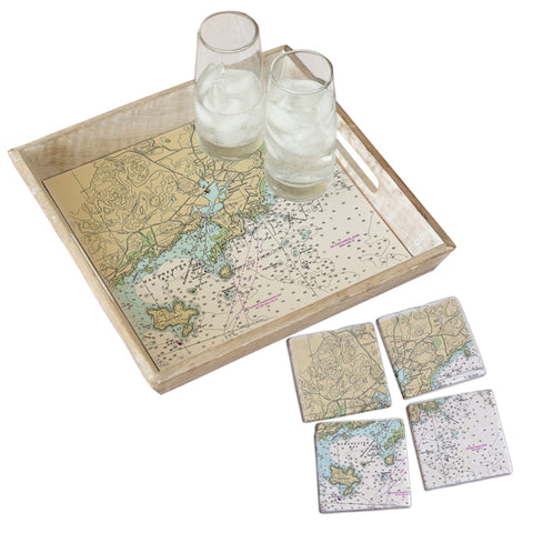 Manchester by the Sea, MA Tray & Coaster Gift Set