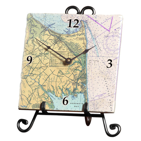 Cape Henlopen, DE  Marble Desk Clock