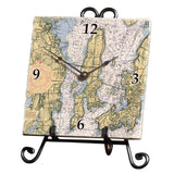 Wickford to Newport, RI Marble Desk Clock