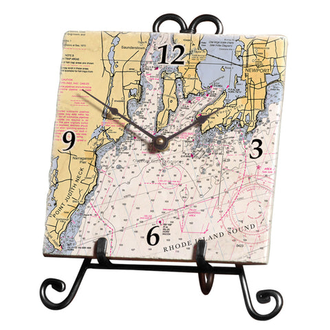 Narragansett Bay Marble Desk Clock