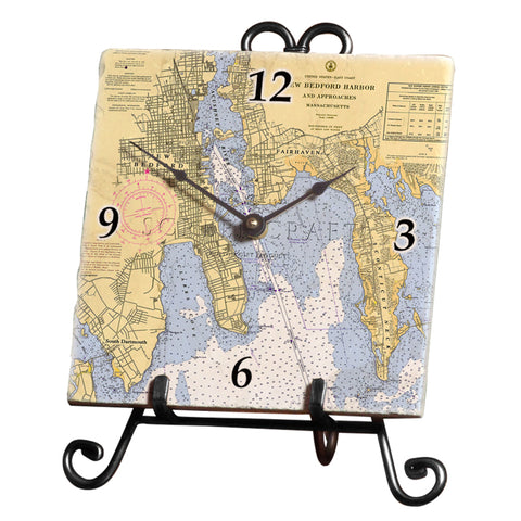 New Bedford, MA Marble Desk Clock
