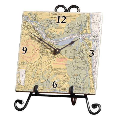 Newburyport, MA  Marble Desk Clock
