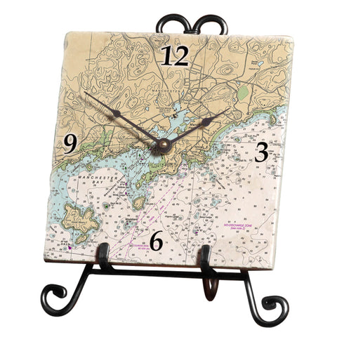 Manchester by the Sea, MA Marble Desk Clock