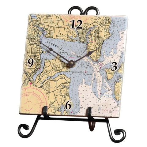 East Greenwich, RI Marble Desk Clock