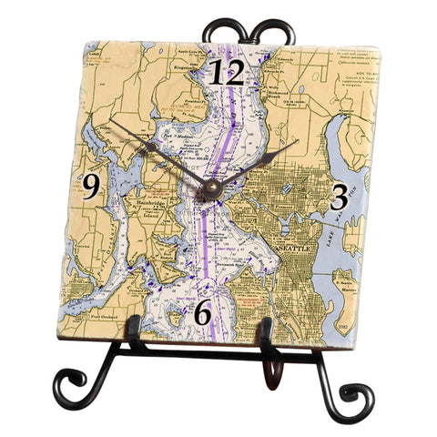 Seattle, WA Marble Desk Clock