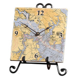 Baltimore, MD Marble Desk Clock