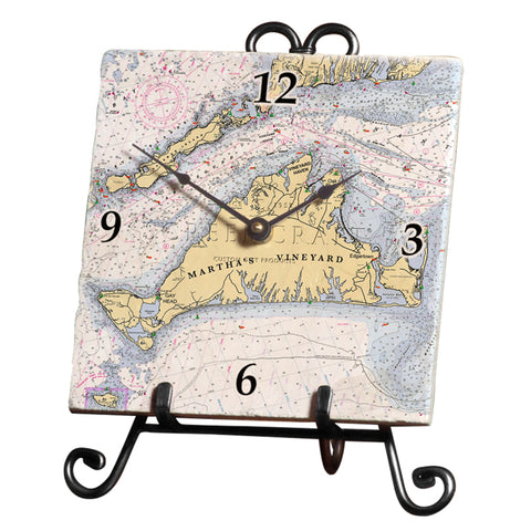 Martha's Vineyard, MA  Marble Desk Clock